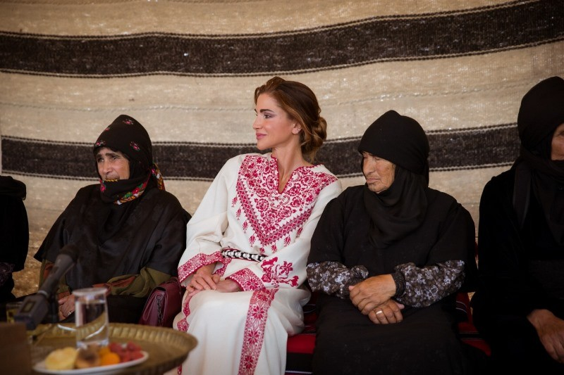 Queen Rania Visits Umm Ar-Rasas District and Pledges Support